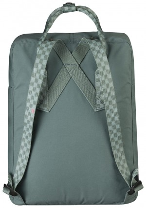 Plecak Kanken Fjallraven - 664/904 - Frost Green/Chess Pattern