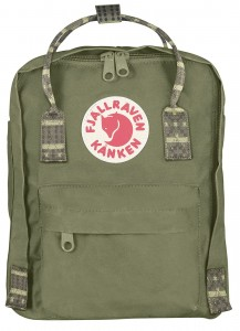 Plecak Kanken Mini Fjallraven - 620-913 Green-Folk Pattern