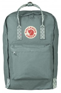 "Plecak Kanken Laptop 17"" Fjallraven - 664-904 - Frost Green-Chess Pattern"