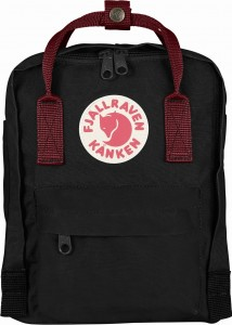 Plecak Kanken Mini Fjallraven - 550/326 Black/Ox Red