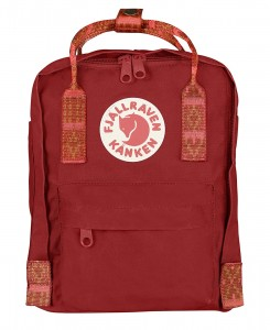 Plecak Kanken Mini Fjallraven -  325/903 - Deep Red/Folk Pattern