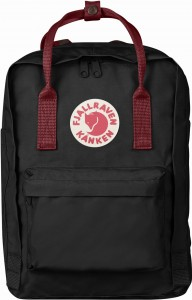 "Plecak Kanken Laptop 13"" Fjallraven - 550/326 Black/Ox Red"