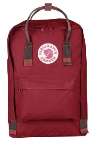 "Plecak Kanken Laptop 15"" Fjallraven - 325-915 - Deep Red-Random Blocked"