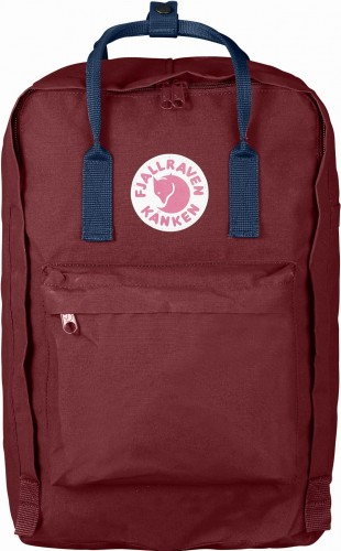 "Fjallraven Kanken Laptop 17"", kolor:326-540 Ox Red/Royal Blue."