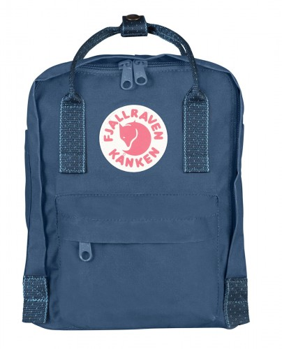 Fjallraven Kanken Mini kolor: 540-902 Royal Blue/Pinstripe Pattern.